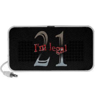 Funny I'm Legal 21 Travel Speaker