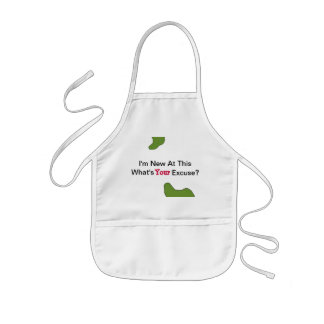 Funny I'm New At This Baby Bib Kids' Apron