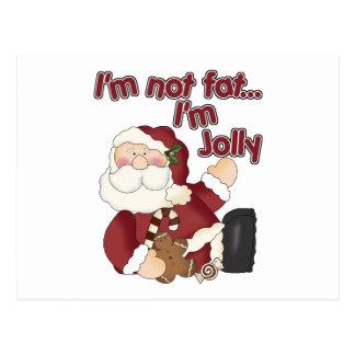 Funny I'm Not Fat Santa Claus Postcard