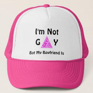 Funny I'm Not Gay But My Boyfriend Is Trucker Hat