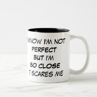 Funny I'm not Perfect Mug