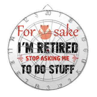 Funny I'm retired designs Dart Board