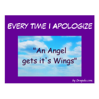 Funny I'm Sorry Card Post Cards