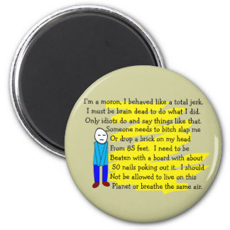 """Funny """"I'm Sorry"""" Cards and Key Chains 2 Inch Round Magnet"""