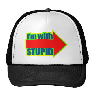 Funny I'm With Stupid T-shirts Gifts Hat