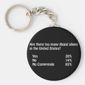 Funny Immigration Question/Answer Basic Round Button Keychain