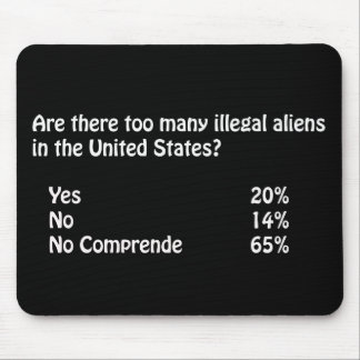 Funny Immigration Question/Answer Mouse Pad