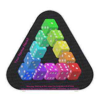 Funny Impossible Dice Triangle with Warning Bluetooth Speaker