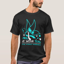 Funny In April We Wear Teal Butterfly Gifts T-Shirt