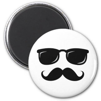 Funny incognito smiley mustache trendy hipster 2 inch round magnet