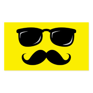 Funny incognito smiley mustache trendy hipster business card