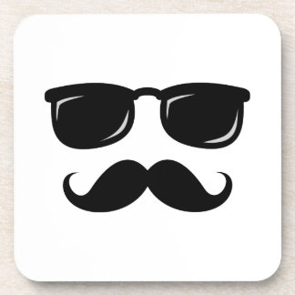 Funny incognito smiley mustache trendy hipster drink coaster