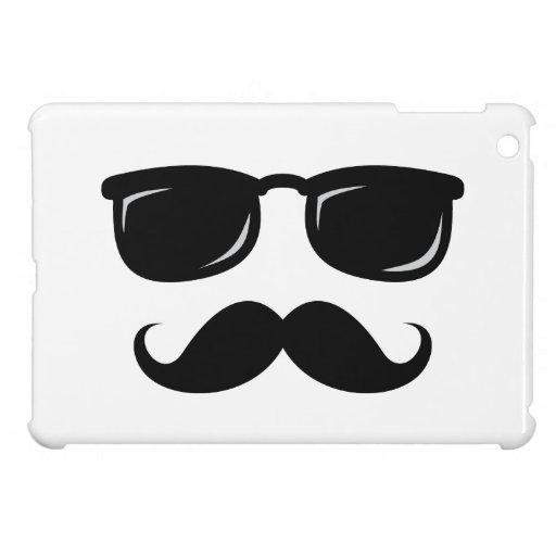 Funny incognito smiley mustache trendy hipster iPad mini case