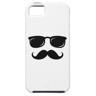 Funny incognito smiley mustache trendy hipster iPhone SE/5/5s case