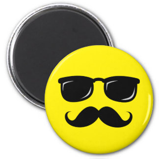 Funny incognito smiley mustache trendy hipster magnet