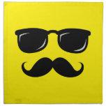 Funny incognito smiley mustache trendy hipster printed napkin