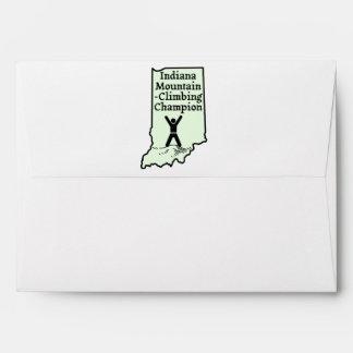 Funny Indiana Mountain Climbing Champion Envelope