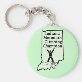Funny Indiana Mountain Climbing Champion Keychain