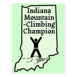 Funny Indiana Mountain Climbing Champion Postcard