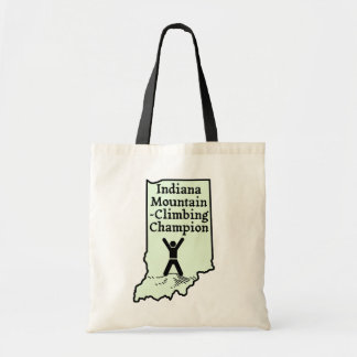 Funny Indiana Mountain Climbing Champion Tote Bag