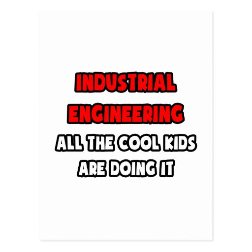 Funny Industrial Engineer Shirts and Gifts Postcards