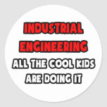 Funny Industrial Engineer Shirts and Gifts Round Stickers