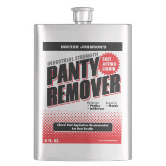 Funny Industrial Panty Remover Gag Gift Flask