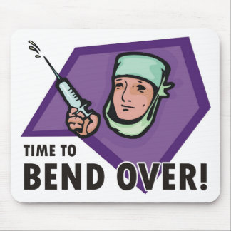 Funny injection doctor / nurse - squirting syringe mouse pad