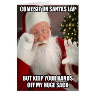 Funny innuendo Santa meme Greeting Card
