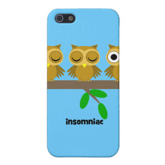 funny insomniac owl case for iPhone SE/5/5s