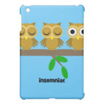 funny insomniac owl iPad mini covers