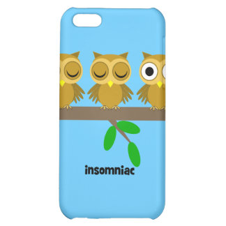 funny insomniac owl case for iPhone 5C