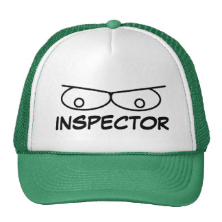 Funny inspector hat