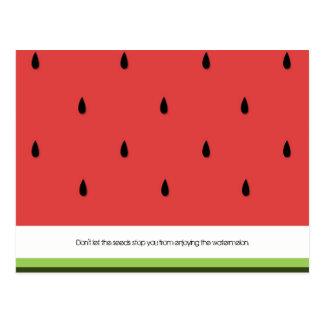 Funny & Inspirational Watermelon Postcard