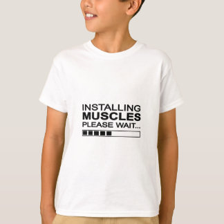 Funny Installing Muscles T-Shirt