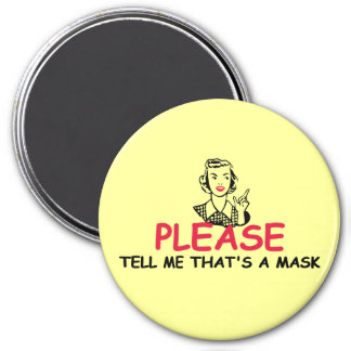 Funny insult 3 inch round magnet