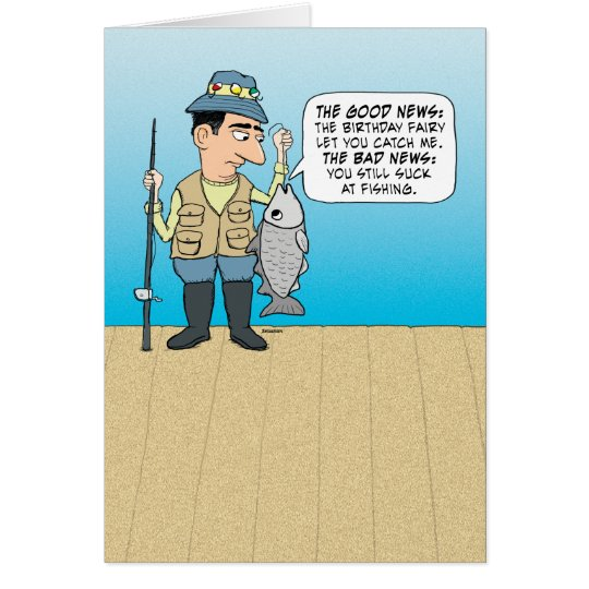 Funny Insulting Fish Birthday Card – Fish Birthday Cards