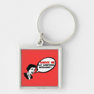 Funny intelligence insult keychain