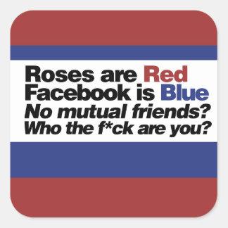 Funny internet poem square sticker