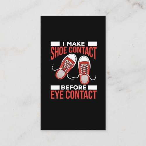 Funny Introvert Shoe Lover Avoid Eye Contact Business Card