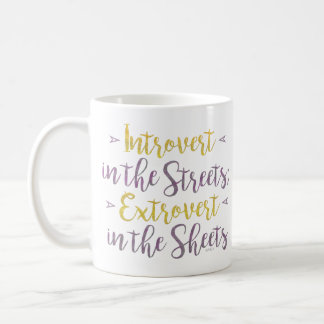 Funny Introvert Streets Extrovert Sheets Rhyme Coffee Mug