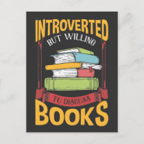 Funny Introverted Book Reader Library Enthusiast Postcard