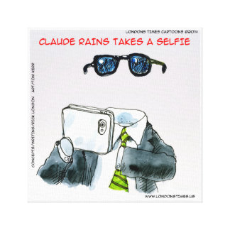 Funny Invisible Man Takes Selfie Canvas Print Gallery Wrapped Canvas