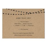Funny Invitation Reply Card Insert - Rustic Kraft