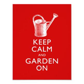 Funny Invitation to Garden Show, Garden Shop Event