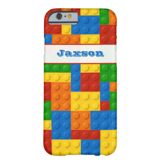 Funny iPhone 6 Case | FAUX Building Blocks | Name