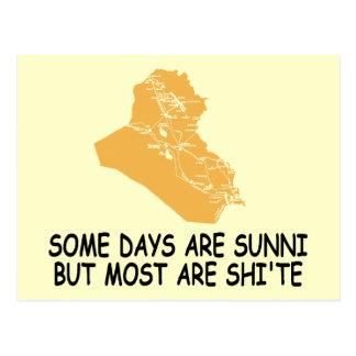 Funny Iraq war Postcard