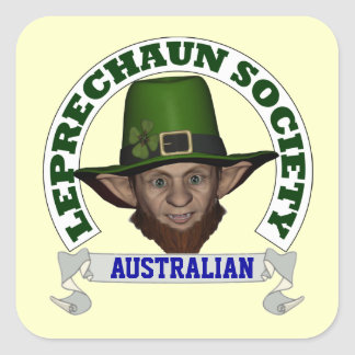 Funny Irish AUSTRALIAN  leprechaun society Square Sticker