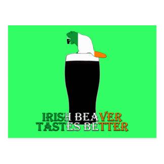 Funny Irish beaver Postcard