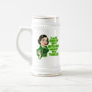 Funny Irish Beer Drinking Coffee Mugs